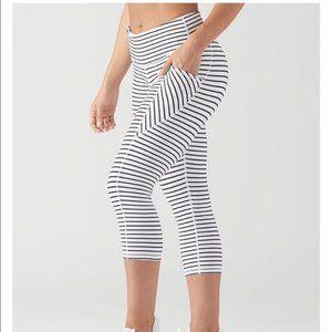 Glyder Striped Capri Leggings NWOT